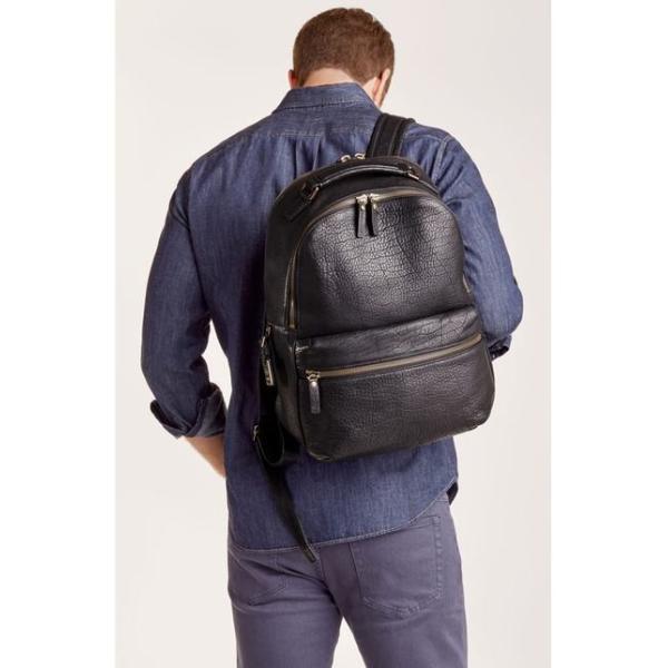 シャイノーラ メンズ バックパック・リュックサック バッグ Shinola Bison Runwell Leather Backpack