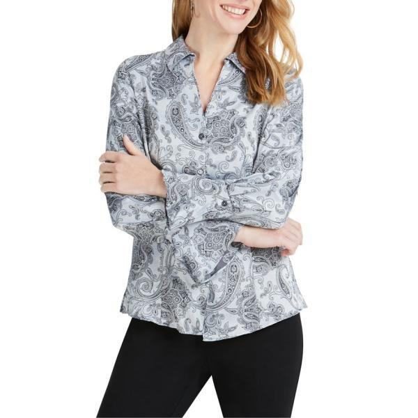 フォックスクラフト レディース シャツ トップス Foxcroft Ellery Paisley Jacquard Shirt