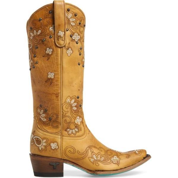 レーンブーツ レディース ブーツ・レインブーツ シューズ LANE BOOTS Sweet Paisley Embroidered Western Boot