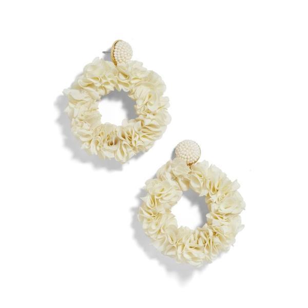 バウブルバー レディース ピアス・イヤリング アクセサリー BaubleBar Camellia Floral Hoop Drop Earrings