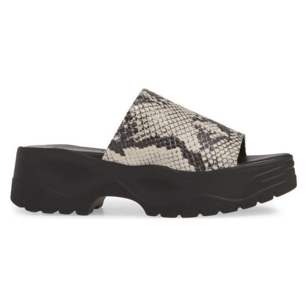 トップショップ レディース サンダル シューズ Topshop Volt Platform Slide Sandal (Women)