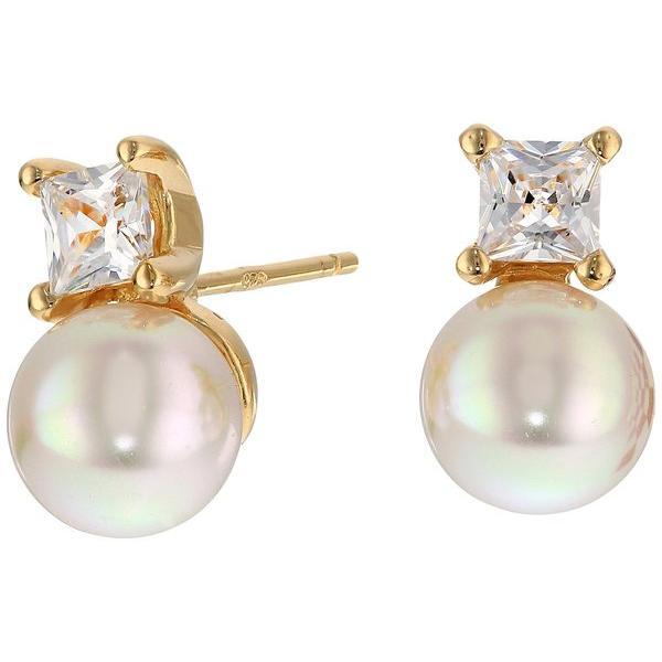 マジョリカ レディース ピアス・イヤリング アクセサリー TU Y YO CZ Gold Stud Earrings