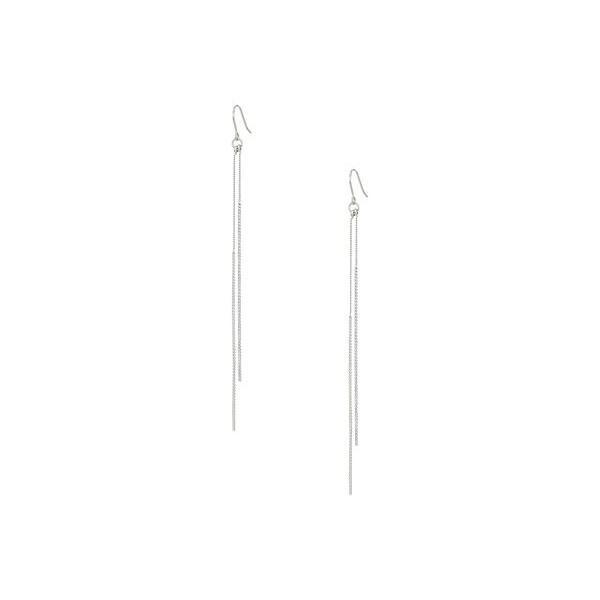 ケネスジェイレーン レディース ピアス・イヤリング アクセサリー Silver Chain and Double Bar Drop Fishhook Earrings