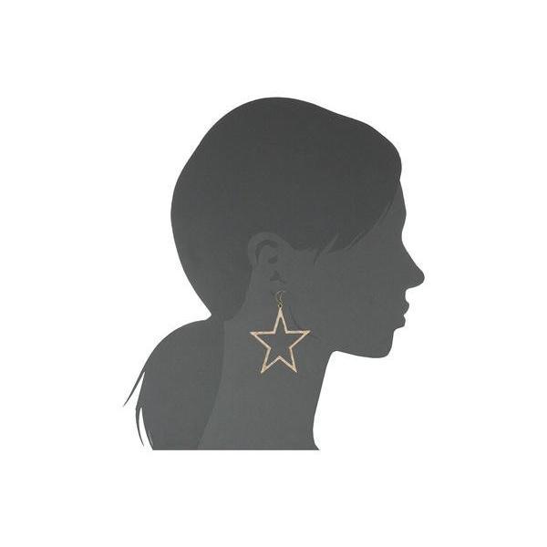 """ケネスジェイレーン レディース ピアス・イヤリング アクセサリー 3"""" Gold Moon Top with Star Drop Post Earrings"""
