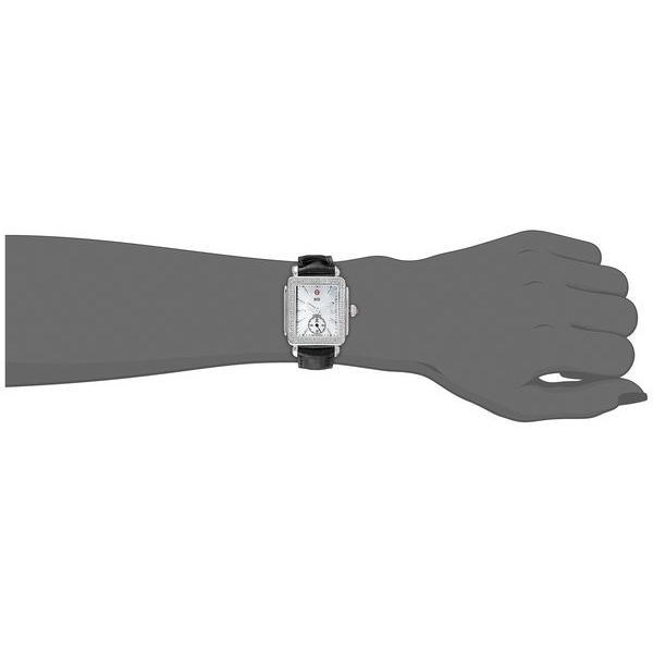 ミッシェル レディース 腕時計 アクセサリー Deco Mid Diamond Black Alligator Watch