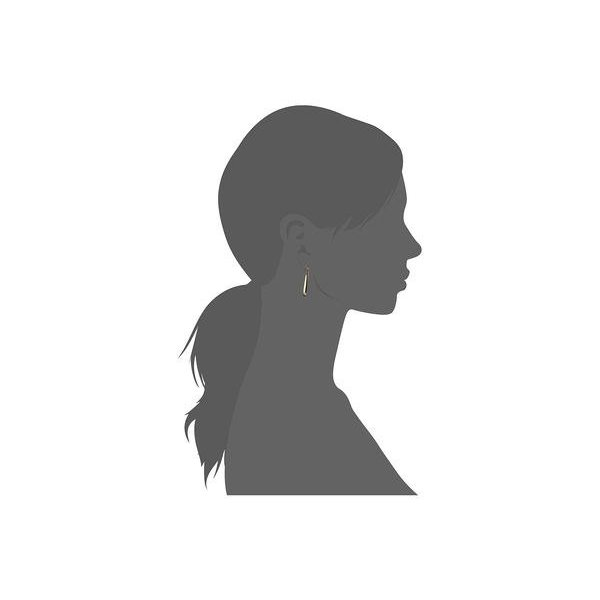 ディーバークレイ レディース ピアス・イヤリング アクセサリー 14KT Solid Gold Oblong Hoop Earrings