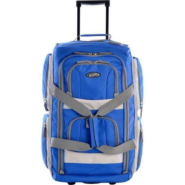 オリンピア メンズ スーツケース バッグ 22 8 Pocket Rolling Duffel Bag