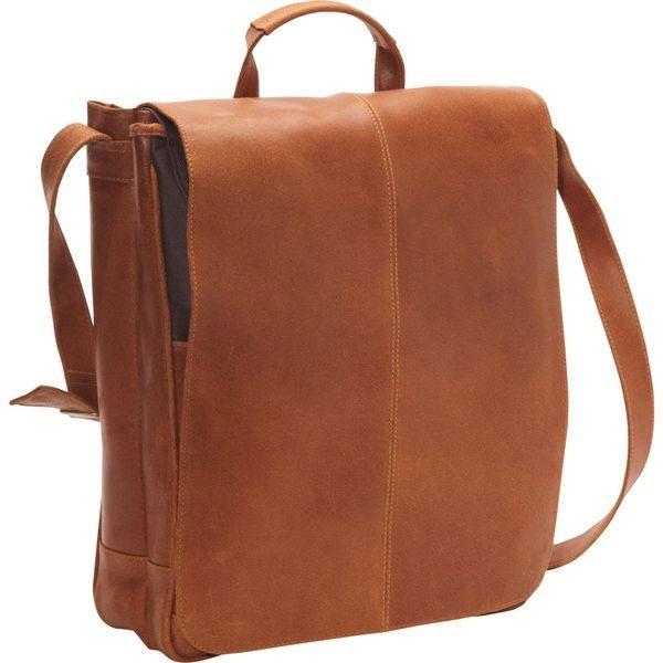 ルドネレザー メンズ スーツケース バッグ Distressed Leather 17 Laptop Messenger