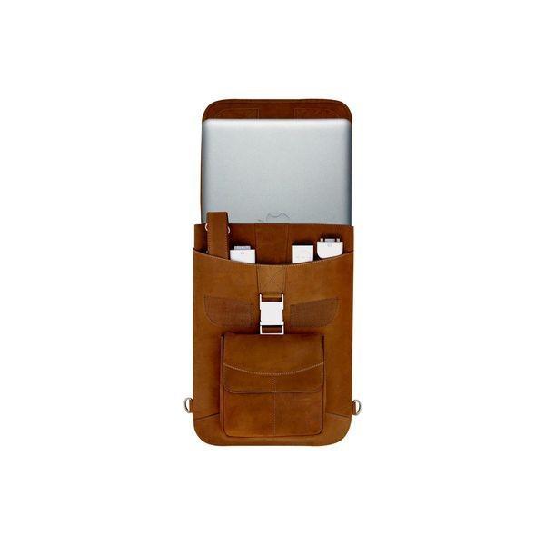 マックケース メンズ バックパック・リュックサック バッグ Premium Leather 15 MacBook Pro TB Flight Jacket + Backpack Option