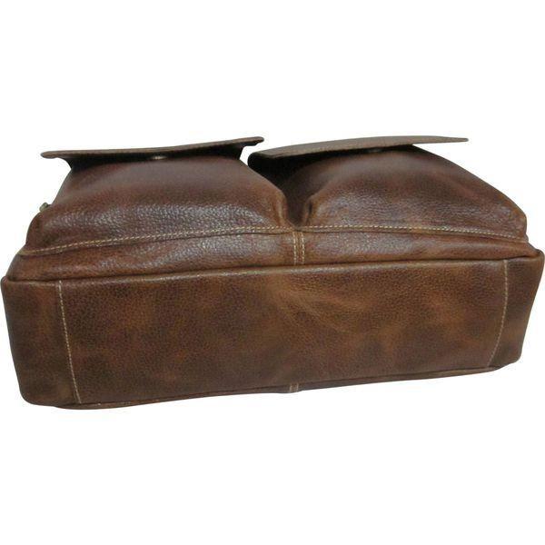 アメリ メンズ ショルダーバッグ バッグ Dual Flap Leather Messenger