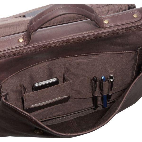 ルドネレザー メンズ スーツケース バッグ Flap Over Computer Brief