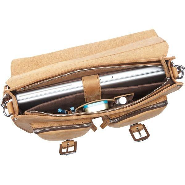 ヴァガボンドトラベラー メンズ スーツケース バッグ 15 Leather Laptop Bag