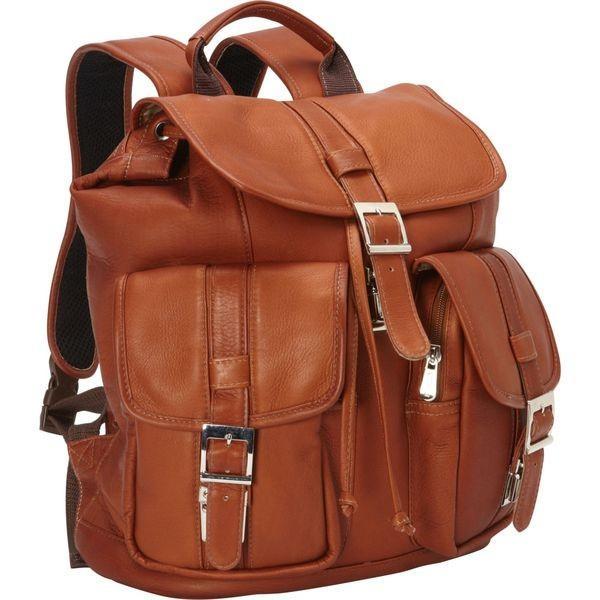 ピエール メンズ バックパック・リュックサック バッグ Medium Drawstring Backpack with Two Front Pockets