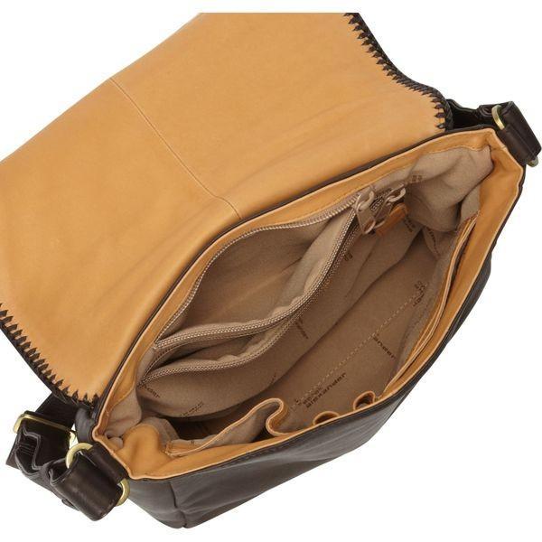 デレクアレクサンダー メンズ ショルダーバッグ バッグ North/South Full Flap Shoulder Bag