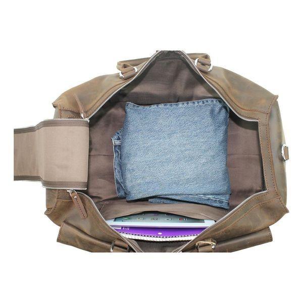 ヴァガボンドトラベラー メンズ スーツケース バッグ 21 Overnight Leather Travel Duffle Bag