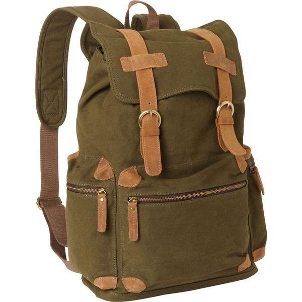 ヴァガボンドトラベラー メンズ バックパック・リュックサック バッグ Classic Large Canvas Backpack