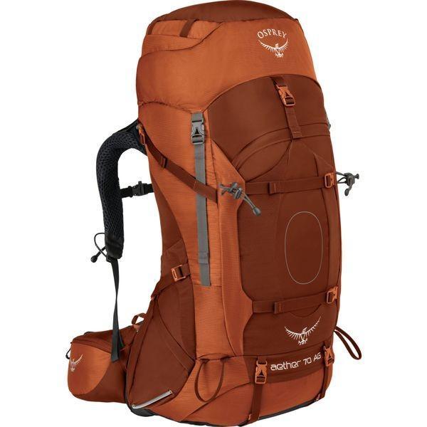 オスプレー メンズ バックパック・リュックサック バッグ Aether AG 70 Hiking Pack