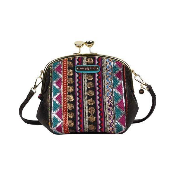 ニコルリー メンズ ショルダーバッグ バッグ Heloise Fabric Embroidered Mini Shoulder Bag