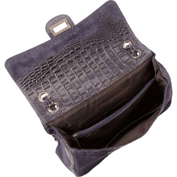 シャロレザーバッグス メンズ ショルダーバッグ バッグ Alligator Print Two-Tone Shoulder Bag