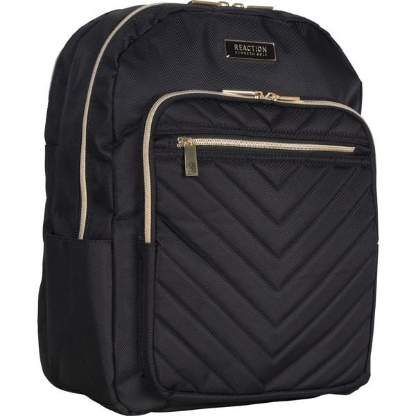 ケネスコール メンズ バックパック・リュックサック バッグ Chevron Quilted Single Compartment 15.6 Computer Backpack with Gold Plated Hardware