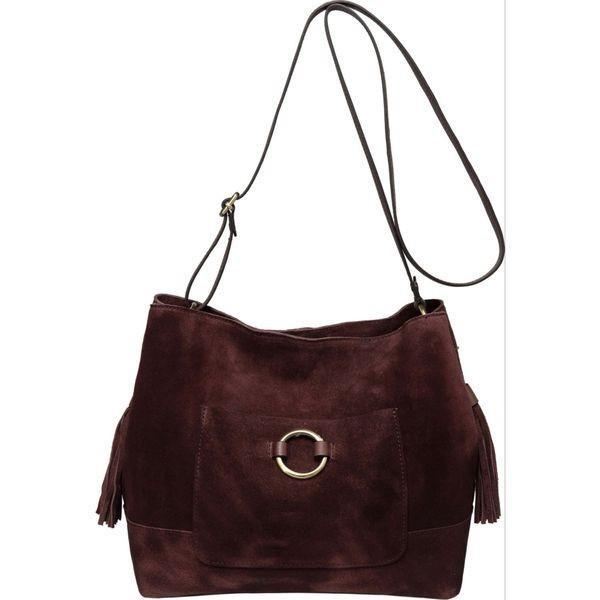 ビンセンゾレザー メンズ ショルダーバッグ バッグ Cammi Suede Leather Handbag