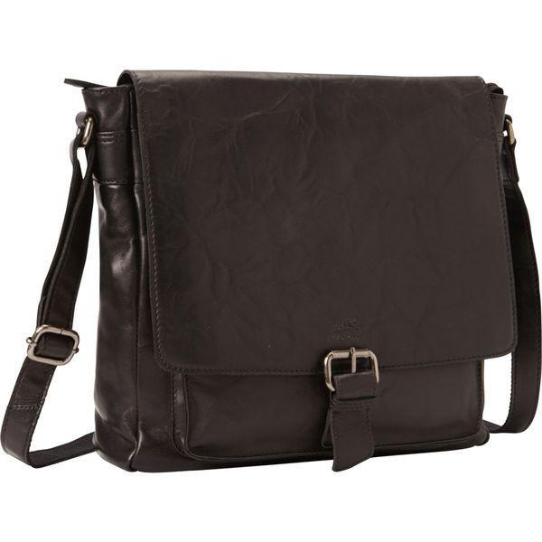 マンシニレザーグッズ メンズ ショルダーバッグ バッグ Cross Body Bag with RFID Secure Pocket