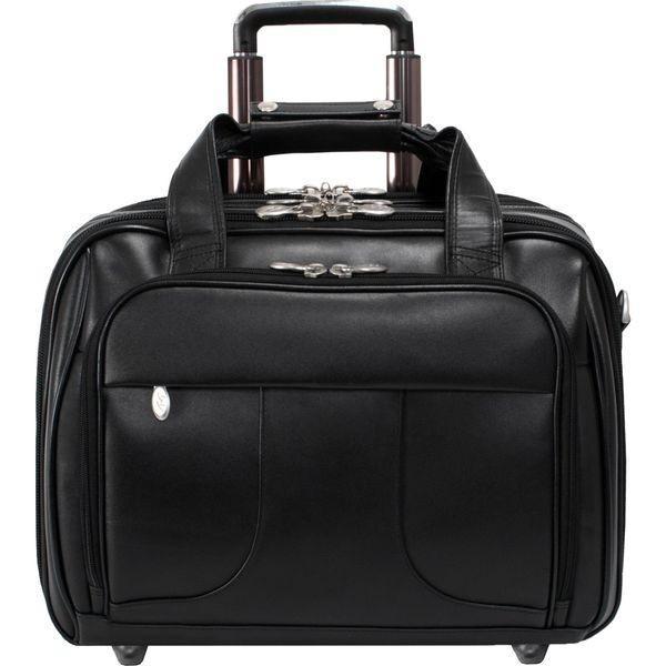 マックレイン メンズ スーツケース バッグ Chicago Leather Wheeled 15.6 Laptop Case