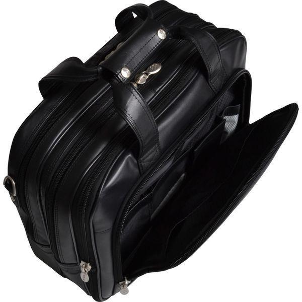 マックレイン メンズ スーツケース バッグ Damen Leather Wheeled 17 Laptop Case