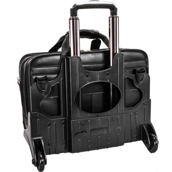 マックレイン メンズ スーツケース バッグ Roosevelt Leather Detachable Wheeled 17 Laptop Case