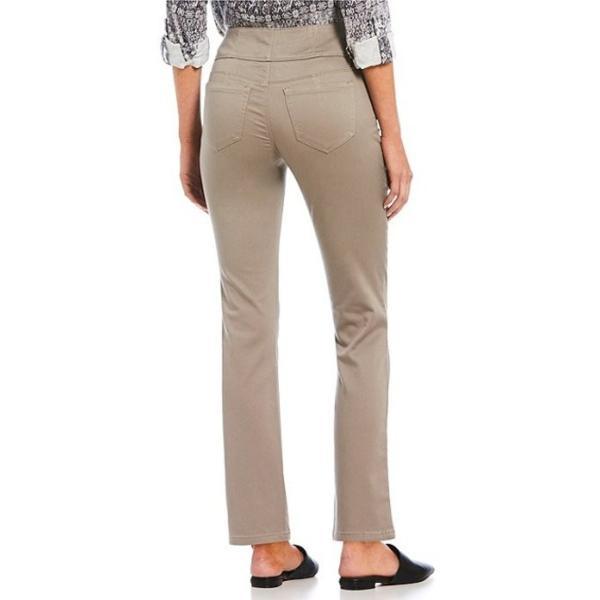 イントロ レディース デニムパンツ ボトムス Petite Size Solid Waist Away High Rise Straight Leg Tummy Control Pant