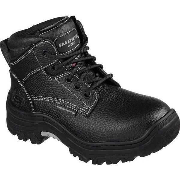 スケッチャーズ レディース ブーツ・レインブーツ シューズ Work Burgin Krabok Steel Toe Boot