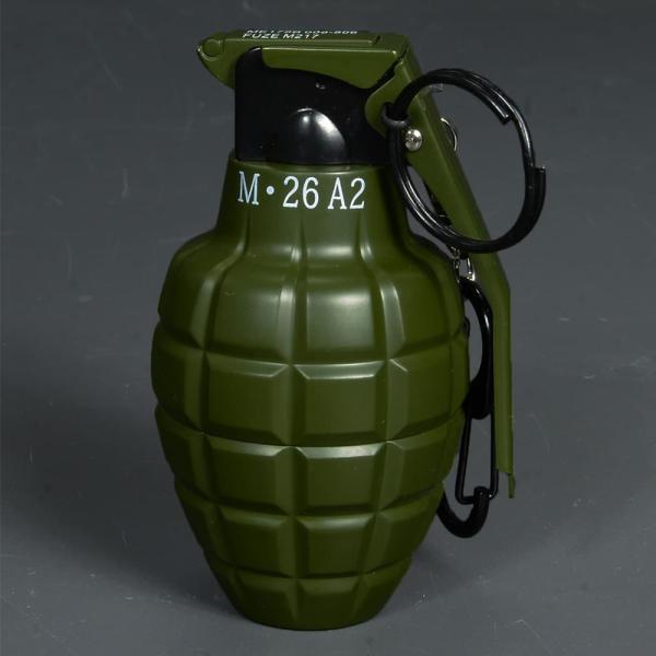 ターボライター グレネード型 カラビナ付 [ カーキ ] ガスライター 手榴弾型ライター グレネード型ライター grenade turbo