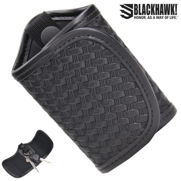 BLACKHAWK サイレントキーホルダー 44A600  [ バスケットウェーブ ] ブラックホーク Silent Key Holder 籠網模様