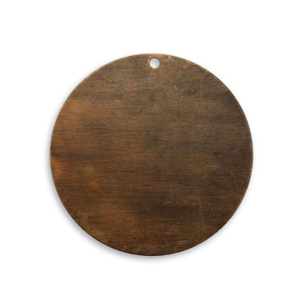 チャームパーツ サークル ブラスキーホルダー メンズ チョーカー ペンダントヘッド 鋳物 鋳造