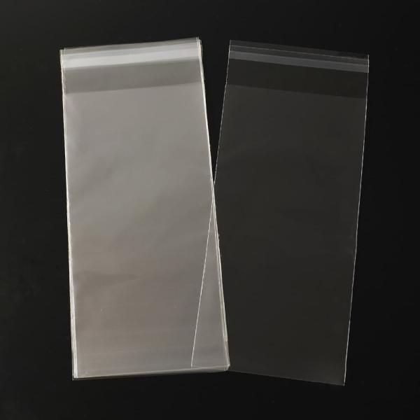 OPP袋 テープ付 100枚入り 幅12cm クリアパック 店舗用品 [ 12×28cm ] 透明 のり留め 業務用 ポリ袋 収納袋