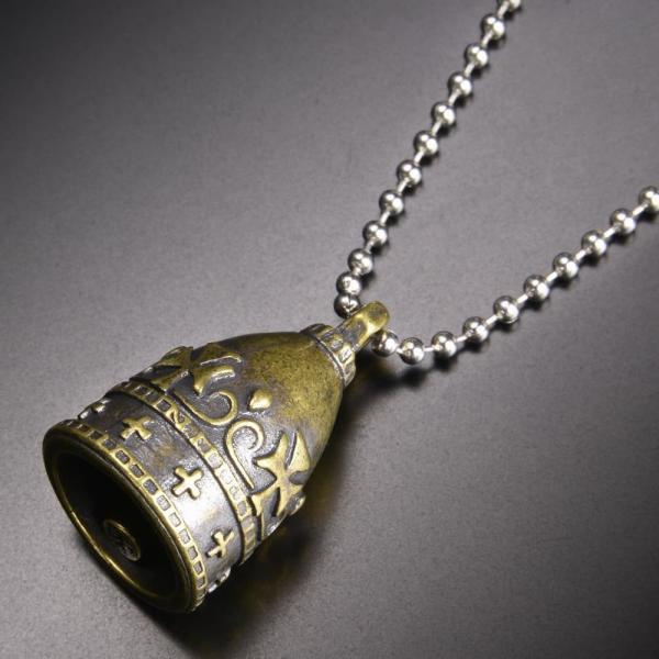 ペンダントトップ ベル型 チャーム 十字架 [ ゴールド ] ネックレス 鐘 クロス ペンダントヘッド キーホルダー メンズ 中世ヨーロッパ