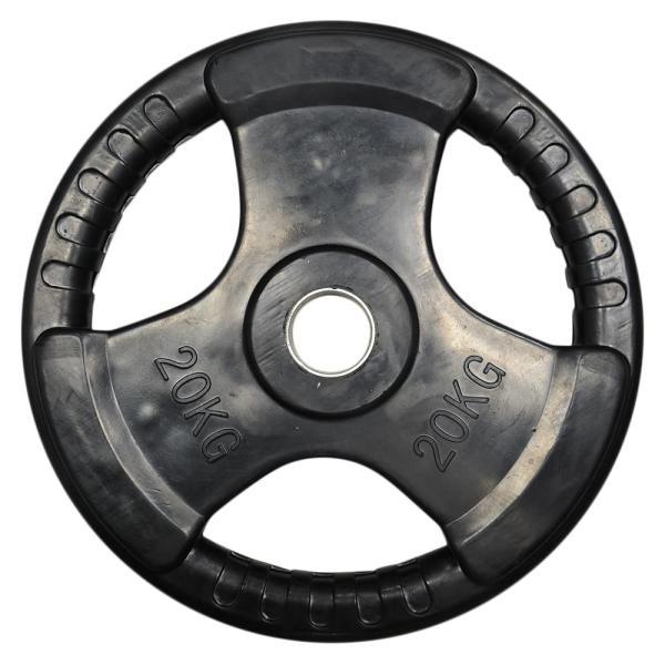 バーベルプレート Φ50mm トレーニング器具 ラバー加工 1枚販売 オリンピックシャフト適合 [ 20kg ] ダンベルプレート ベンチプレス