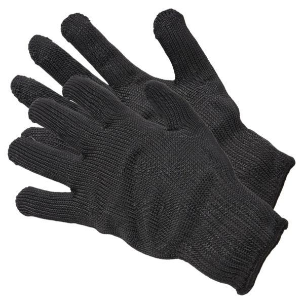 防刃グローブ ブラック 1双組 ステンレスワイヤー編込 軍手 作業用グローブ 作業用手袋 防刃手袋 耐刃 ワークグローブ レザーグローブ 革手袋
