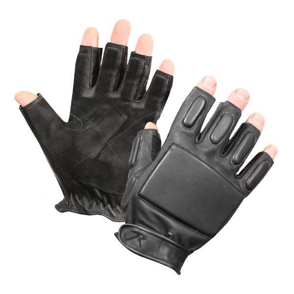 ロスコ ラペリンググローブ 牛革 フィンガーレス [ Lサイズ ] 革手袋 レザーグローブ 皮製 皮手袋 ハンティンググローブ タクティカルグローブ