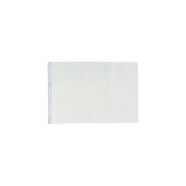 (まとめ)LIHITLAB PPクリヤーポケット クリアポケット N-2018 A3E 2穴 10枚〔×5セット〕