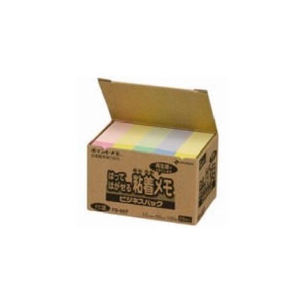 (まとめ)ニチバン ポイントメモ再生紙 FB-4KP パステル〔×5セット〕