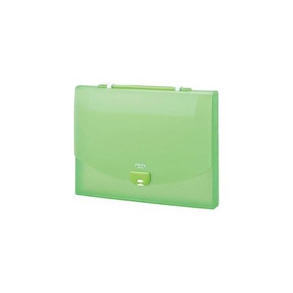 (まとめ)セキセイ プレイングケース AP-952 A4 キウイ〔×5セット〕