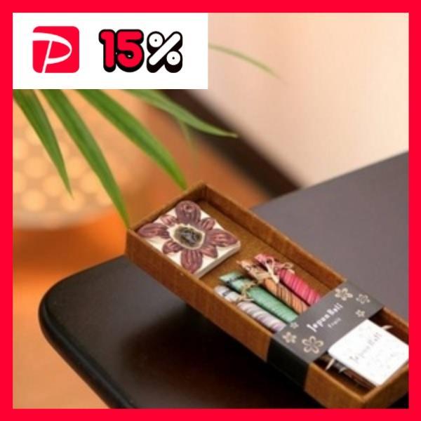 お香/お香立てセット フルーツ系 スティックタイプ バリ島製 「Jupen Bari/ジュプンバリ」