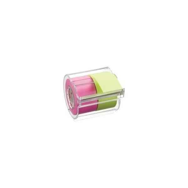 (まとめ)ヤマト メモックロールテープ 蛍光 NORK-25CH6A〔×10セット〕