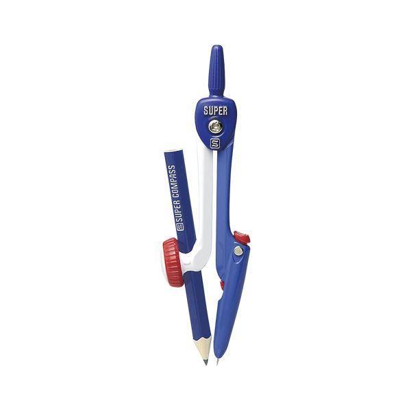 (まとめ) ソニック スーパーコンパス はりinパス 鉛筆用 SK-654-B 青 1個入 〔×5セット〕