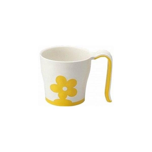 (まとめ)三信化工 食事用具 自助食器マグカップ イエロー UPC-180Y〔×10セット〕