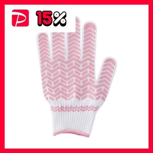(まとめ) 川西工業 天然ゴムすべり止め軍手 女性用 ピンク #2221 1パック(3双) 〔×5セット〕