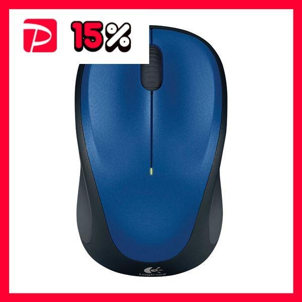 (まとめ) ロジクール Wireless Mouse ブルー M235RBL 1個 〔×2セット〕