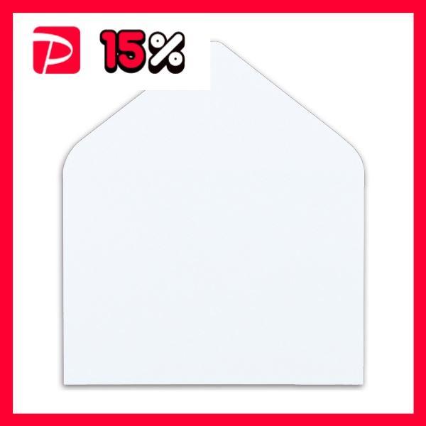 (まとめ) ハート マルチプリンター対応 洋封筒 洋2 104.7g/m2 〒枠なし ホワイト Y1290 1パック(100枚) 〔×4セット〕