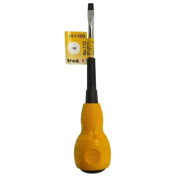 (まとめ)TRAD パワードライバー/作業工具 〔-6×100〕 日本製 NO.112 〔業務用/DIY用品/日曜大工〕〔×50セット〕